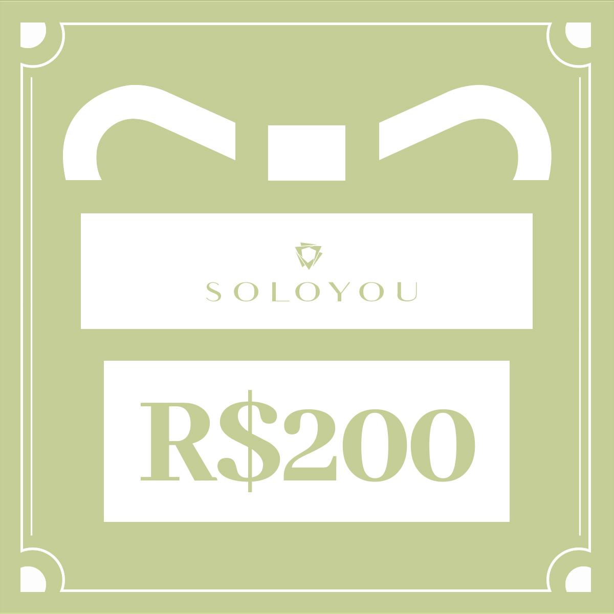 Cartão Presente Surpreenda com Soloyou - R$ 200  - Soloyou