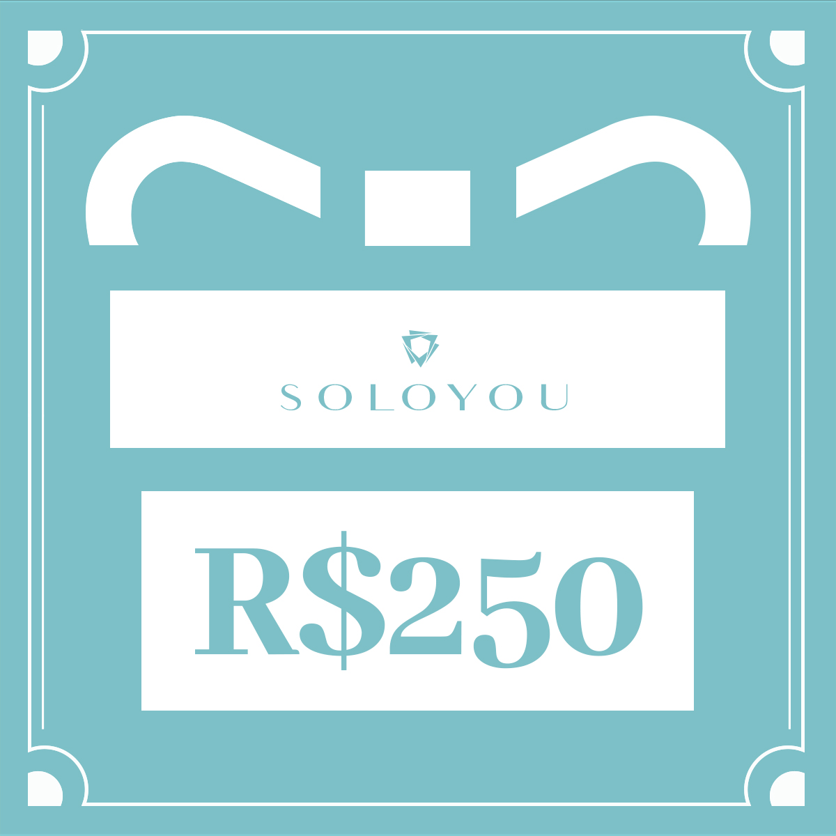Cartão Presente Surpreenda com Soloyou - R$ 250  - Soloyou