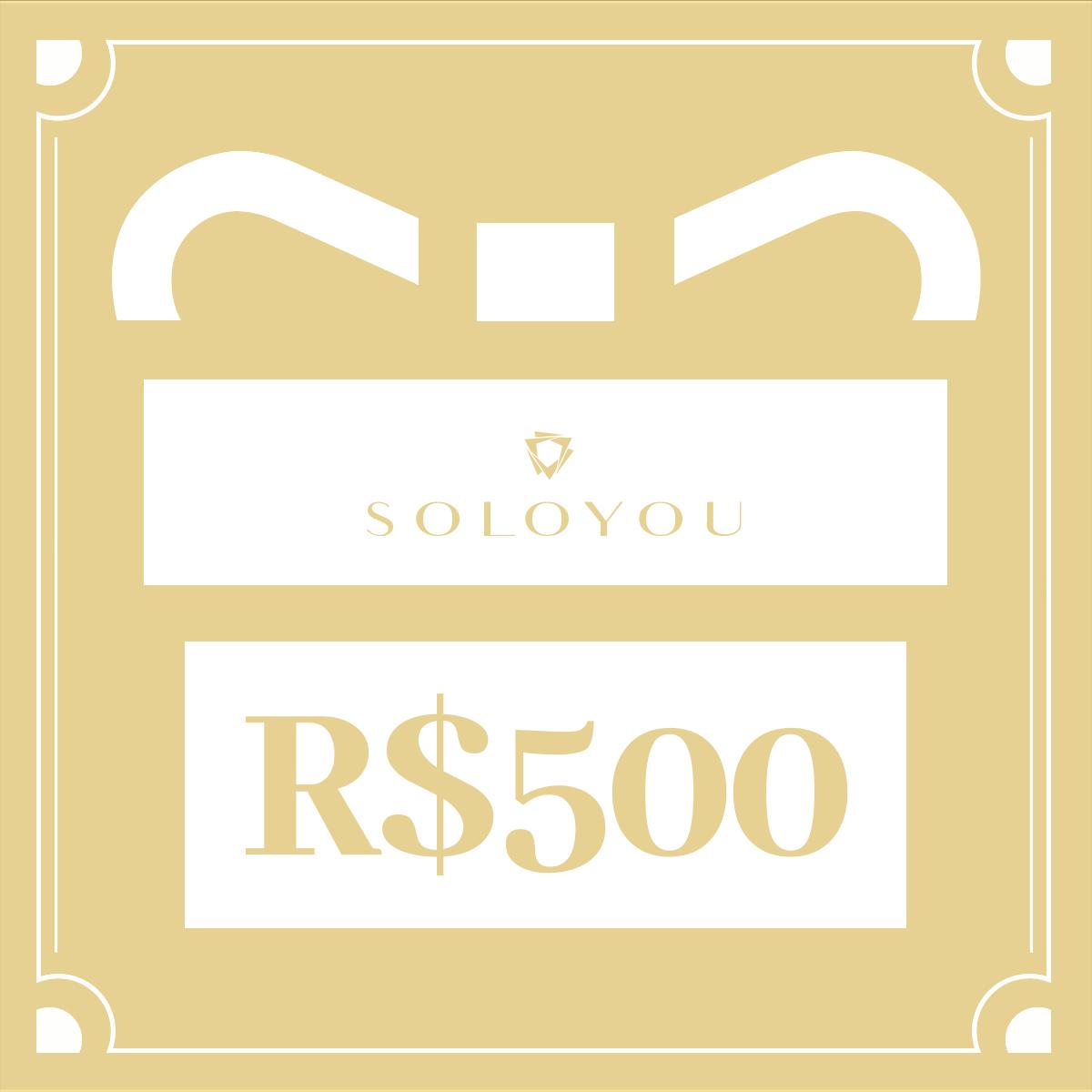 Cartão Presente Surpreenda com Soloyou - R$ 500  - Soloyou