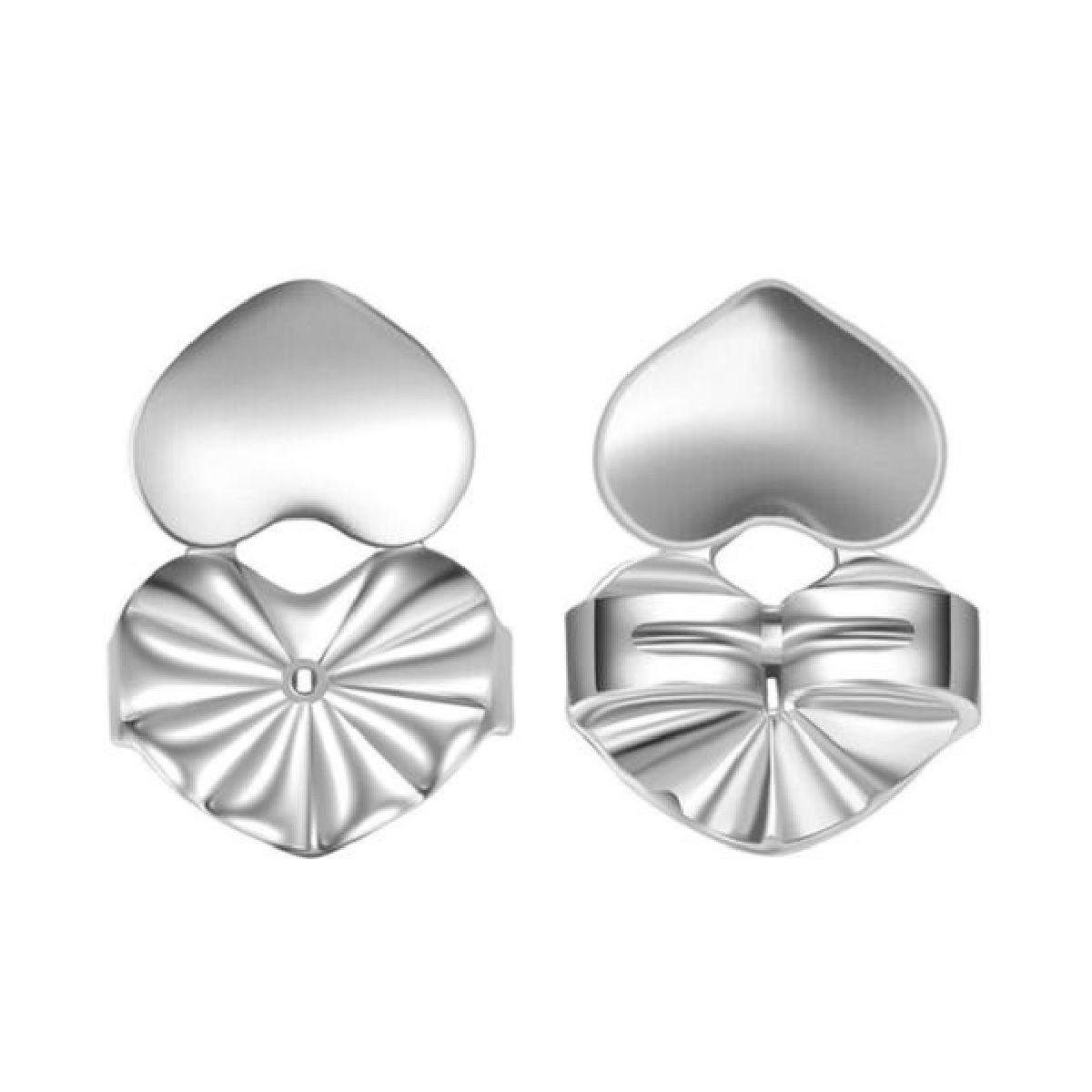 Ear Cuff Palito Delicado Semijoia Cravejada de Zircônia Preta em Ródio Branco  - Soloyou