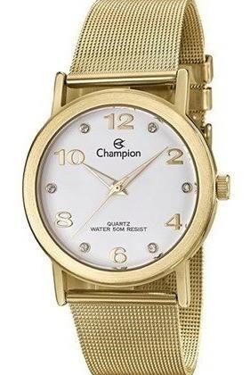 Relógio Champion Feminino Dourado Cn29034h