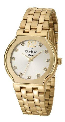 Relógio Champion Diva Feminino Dourado Cn27401h