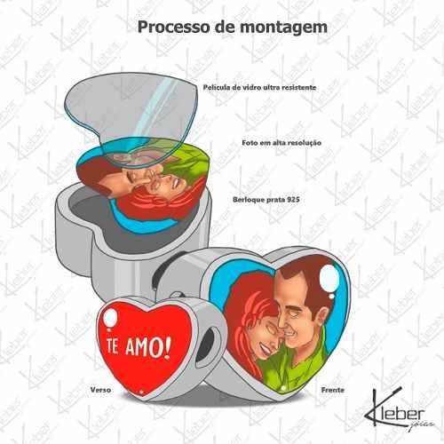 Pulseira + Berloque Foto Personalizada