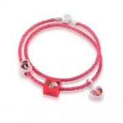 Berloque Coração Acrílico Personalizado - Vermelho