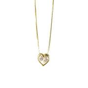 Gargantilha Coração Zircônia Ouro 18k