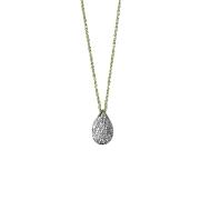 Gargantilha Gota Ouro 18k Diamantes