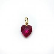 Pingente Coração Zircônia 10mm 18K