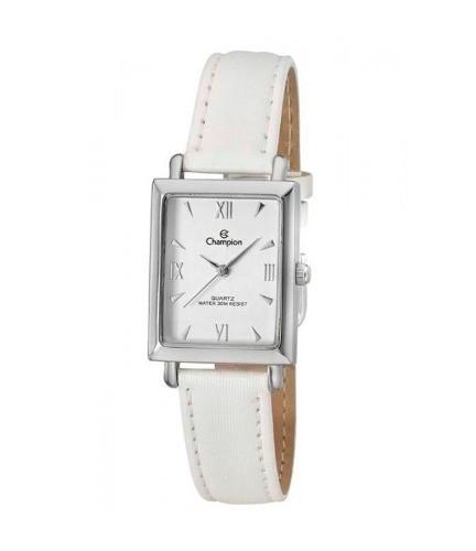 Relógio Champion Feminino Prateado Branco Ch25105d