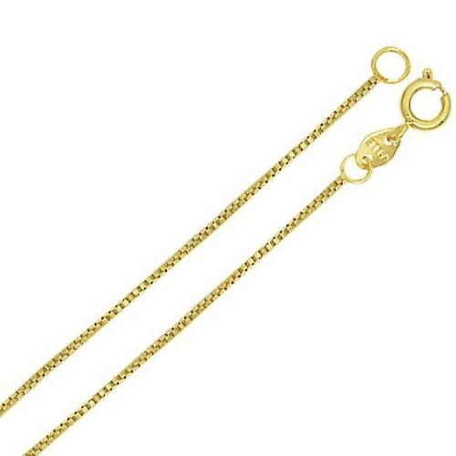 Corrente Cordão Colar Veneziana 1g 45cm Ouro 18k 750