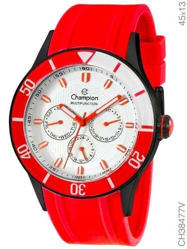 Relógio Champion Masculino Ch38477v Vermelho
