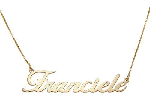9ed7d33db8647 Corrente Cordao Colar Com Nome Personalizado Em Ouro 18k - KLEBER JÓIAS
