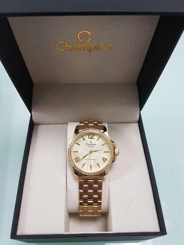 Relógio Champion Feminino Passion Dourado Cn29801g