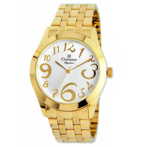 Relógio Champion Feminino Elegance Dourado Cn26635h