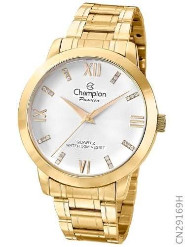 Relógio Champion Dourado Feminino Cn29169h