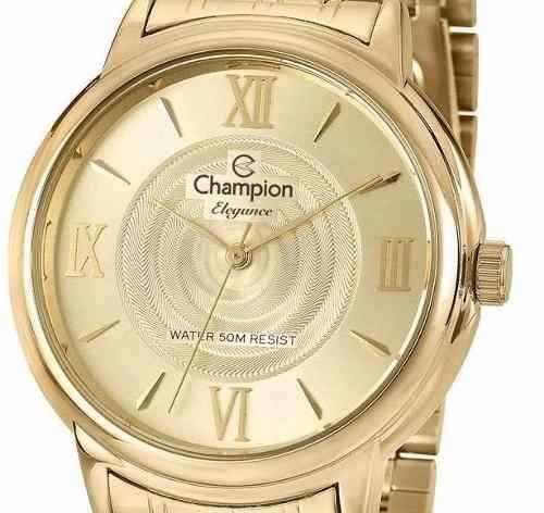 Relógio Champion Elegance Feminino Dourado Cn27278g