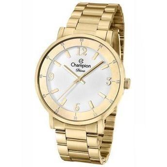 Relógio Champion Feminino Dourado Cn29687h