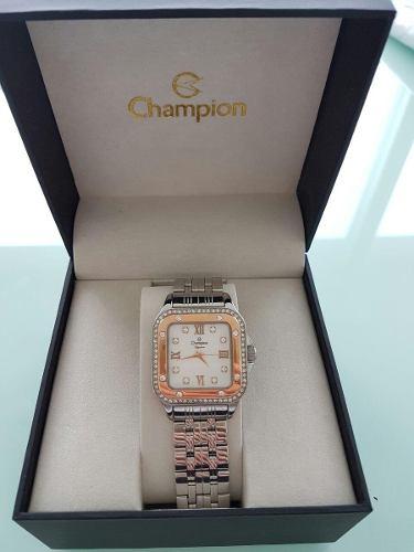 Relógio Champion Feminino Prateado E Rosé Cn27321q
