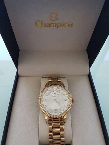 Relógio Champion Feminino Diva Dourado Cn29829h