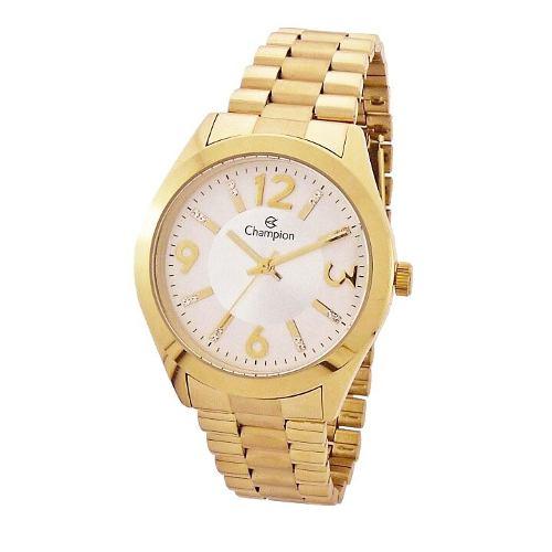 Relógio Champion Dourado Feminino Cn25225h