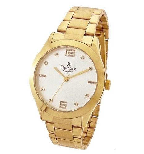 Relógio Champion Feminino Dourado Cn25145h