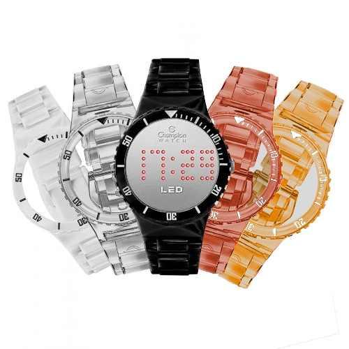 Relógio Champion Cp40162x Led Troca Pulseiras