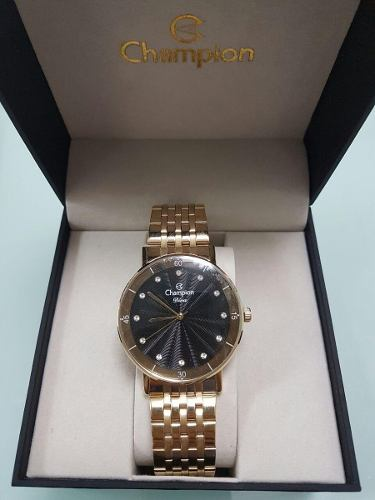 Relógio Champion Feminino Dourado Cn29703u