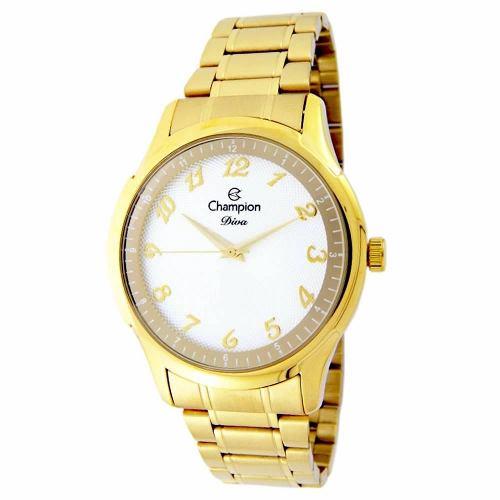 Relógio Champion Feminino Dourado Cn27625h