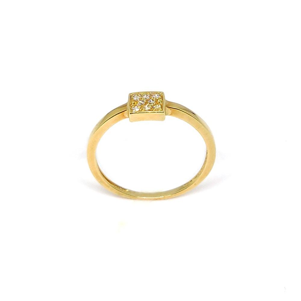 Anel 18k  com Diamantes