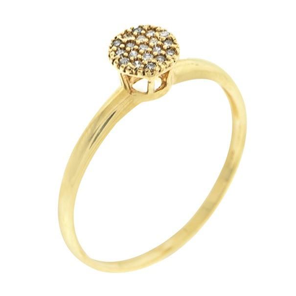 Anel Chuveiro Diamantes Ouro 18K