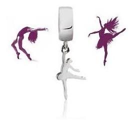 Berloque Bailarina Dançarina Prata 925