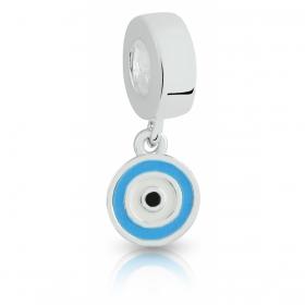 Berloque Olho Grego em Prata