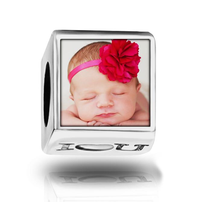 Berloque Personalizado com Foto Quadrado