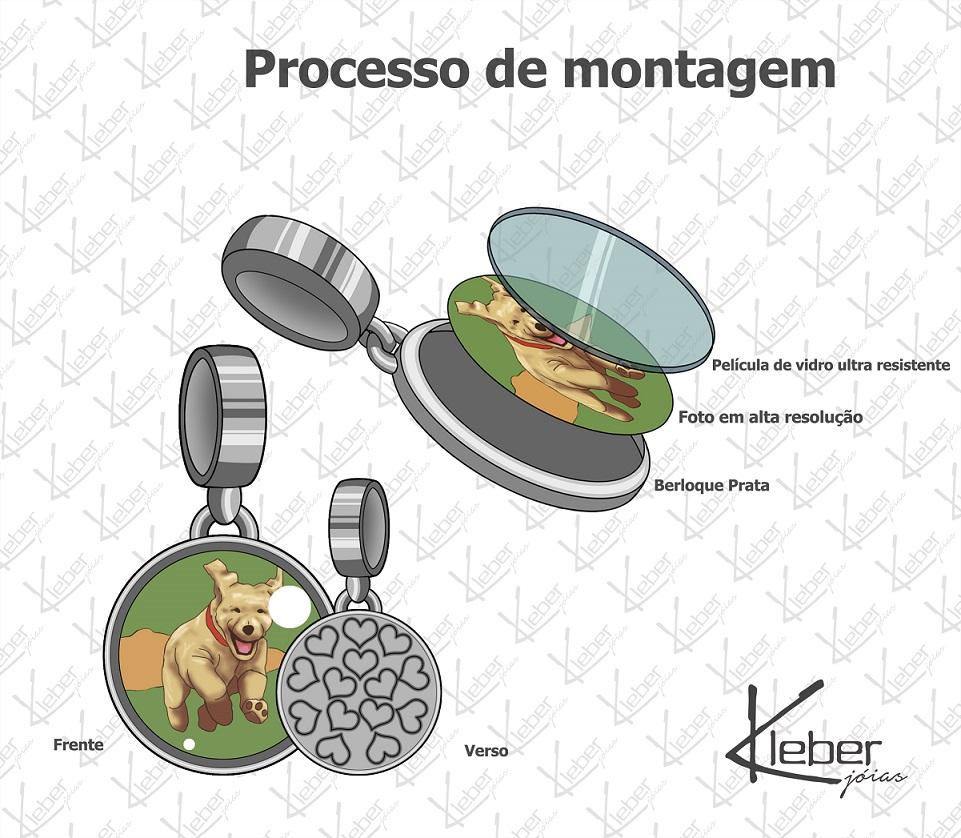 Berloque Personalizado com Foto Redondo