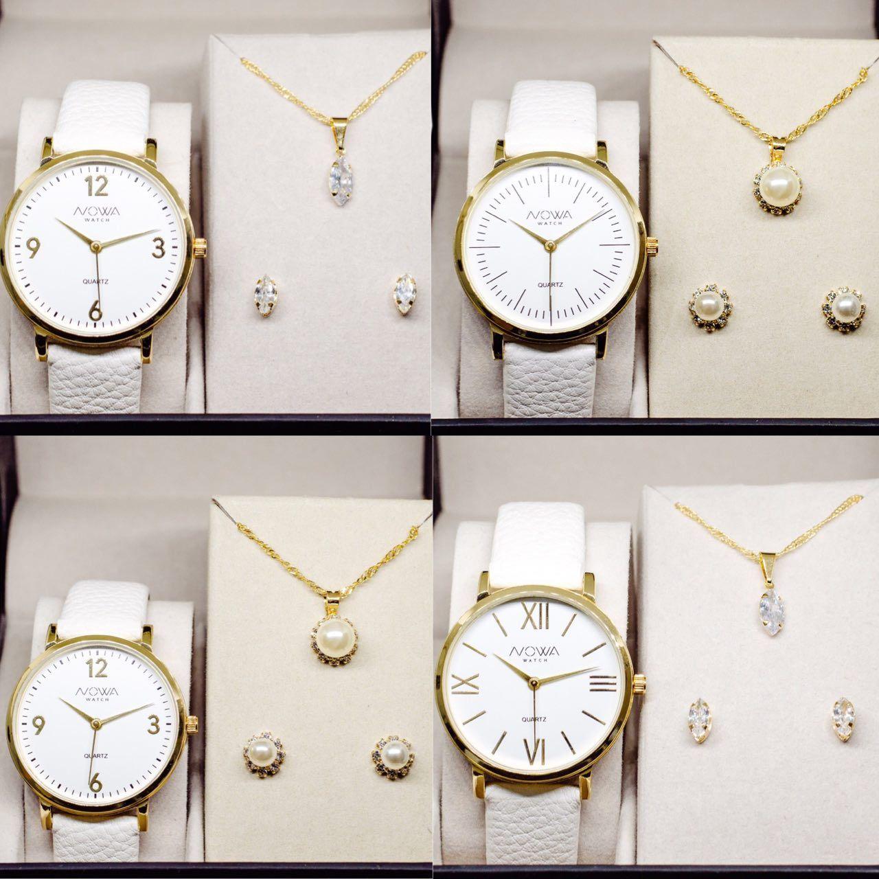 Kit Nowa 4 relógios Couro