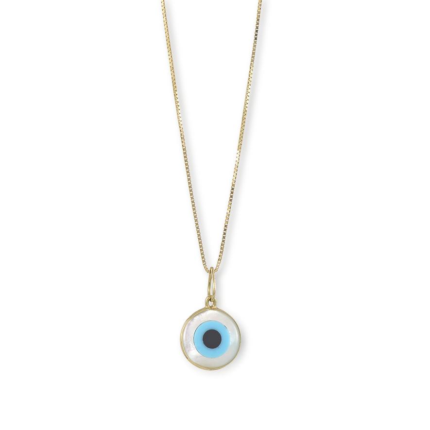 Pingente Olho Grego Em Ouro 18k 750