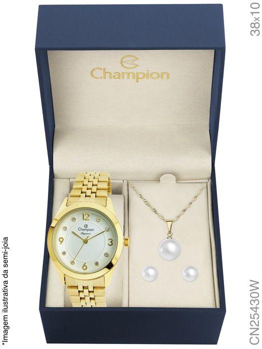 Relógio Champion Cn25430w Kit