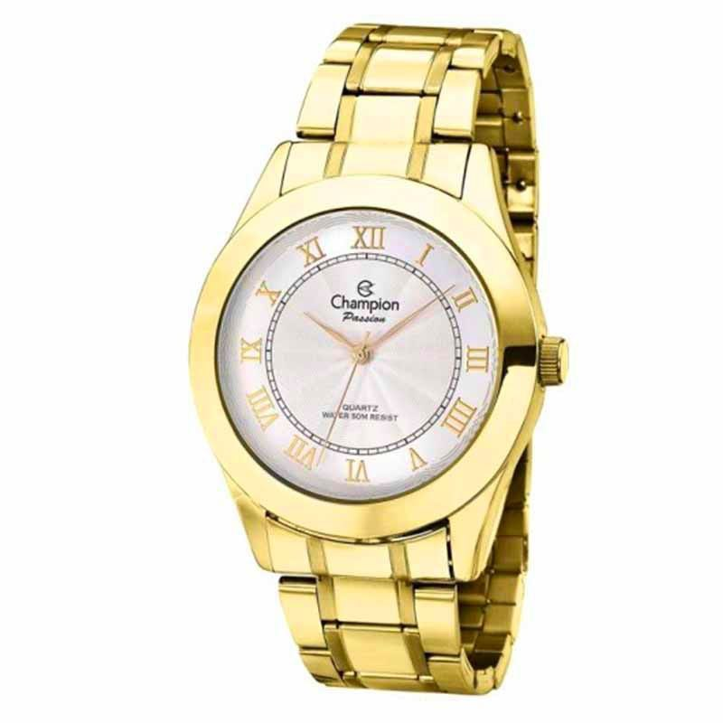 Relógio Champion Dourado Passion Ch24544h