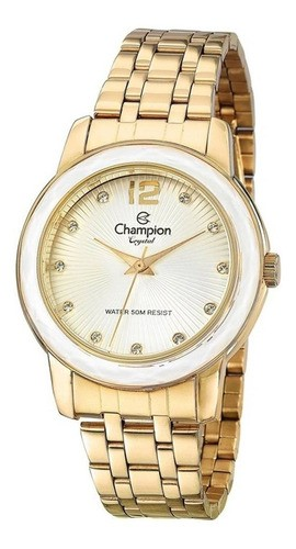 Relógio Champion Feminino Crystal Dourado Cn27223h Original