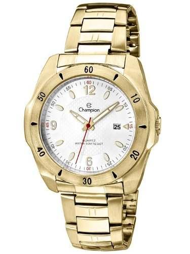 Relógio Champion Masculino Dourado Ca30141h
