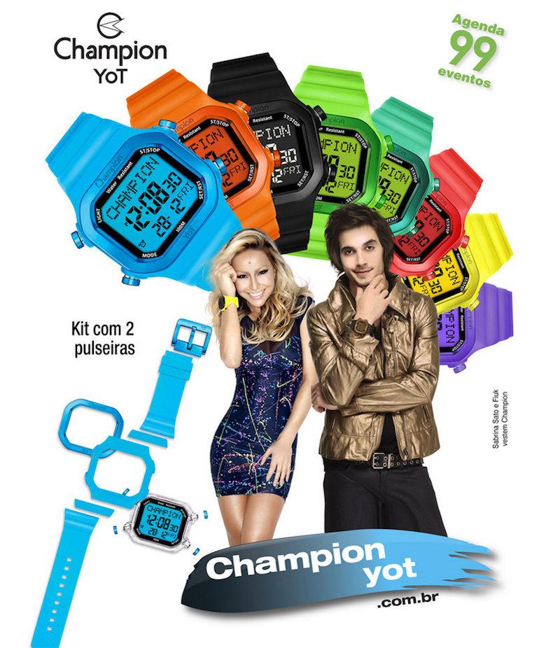 0bb4af269c4 Relógio Kit Champion Yot Cp40180x - KLEBER JÓIAS