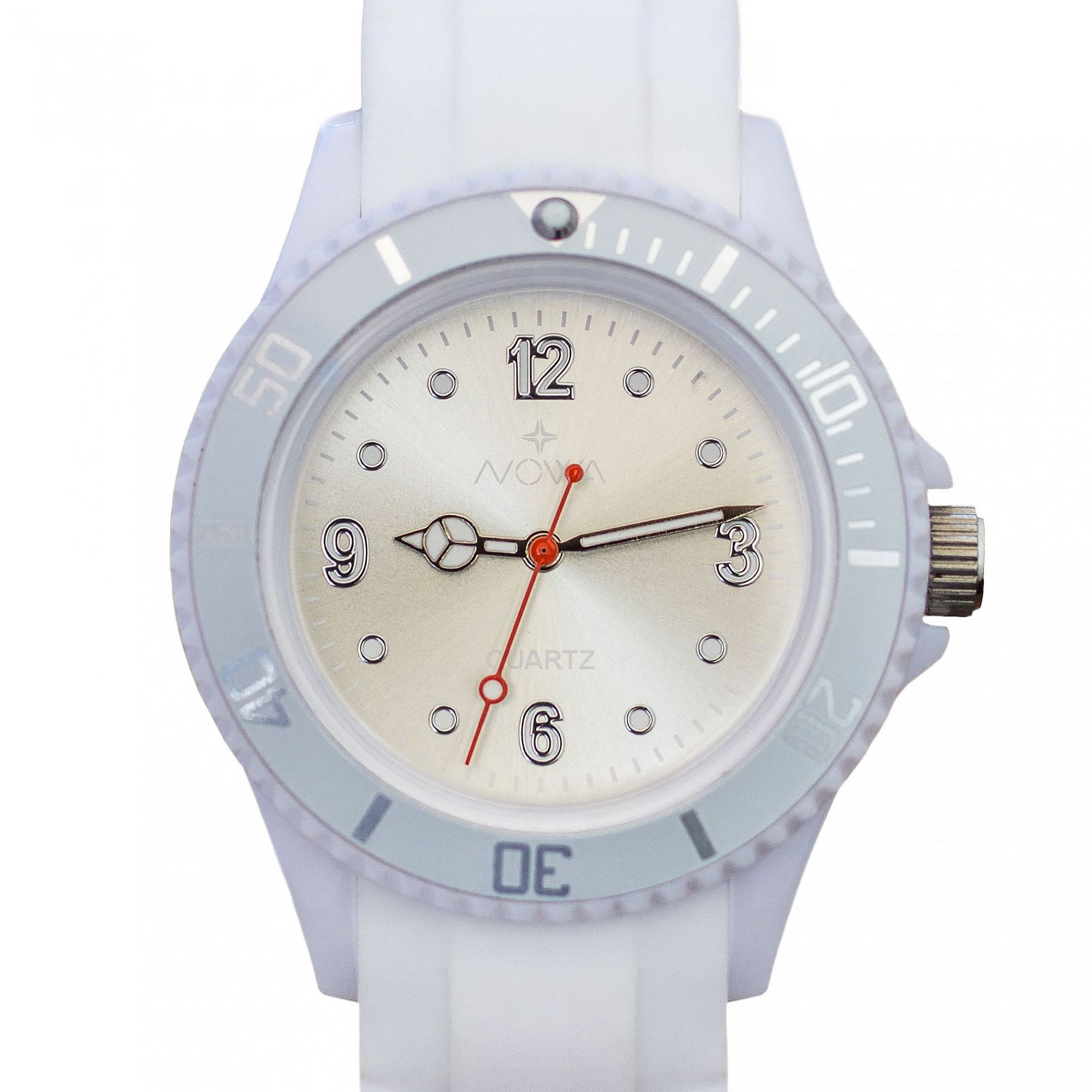 Relógio Nowa Feminino Branco NW0520BK Borracha