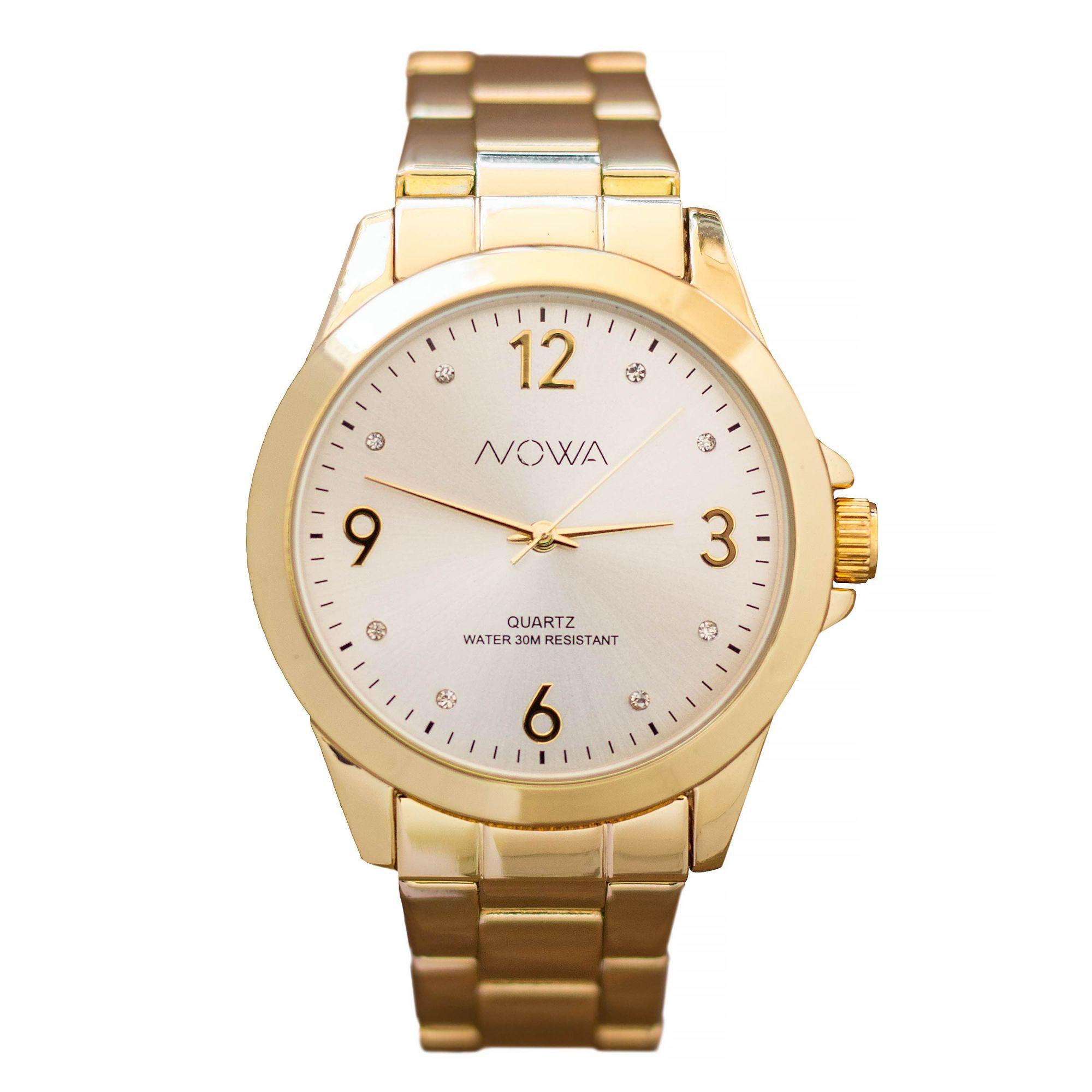 Relógio Nowa Feminino Dourado NW1016K