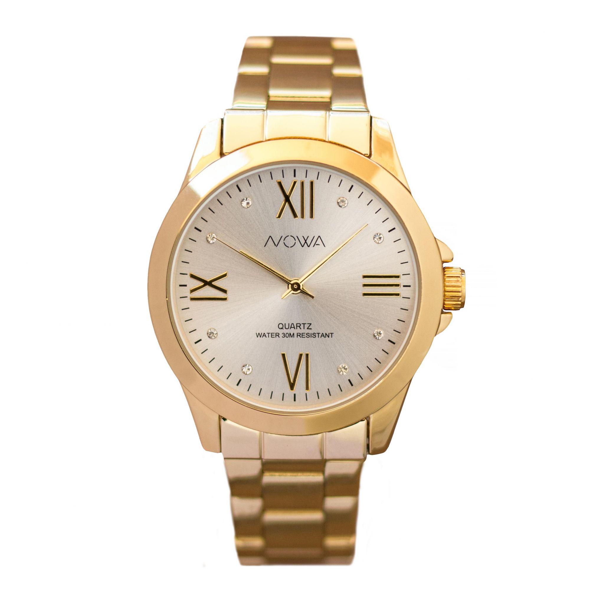 Relógio Nowa Feminino Dourado NW1017K