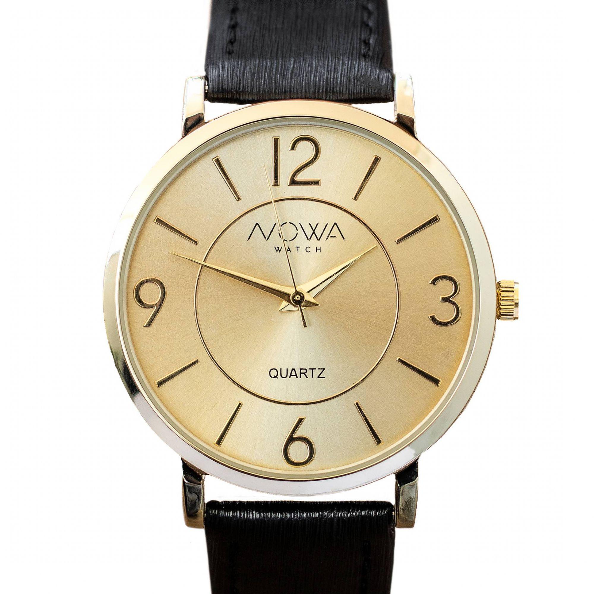Relógio Nowa Feminino Dourado NW1412K Couro