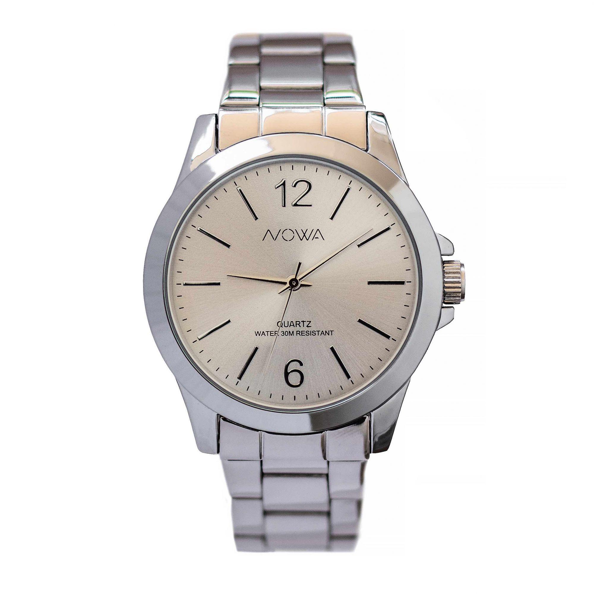 Relógio Nowa Feminino Prata NW2018K