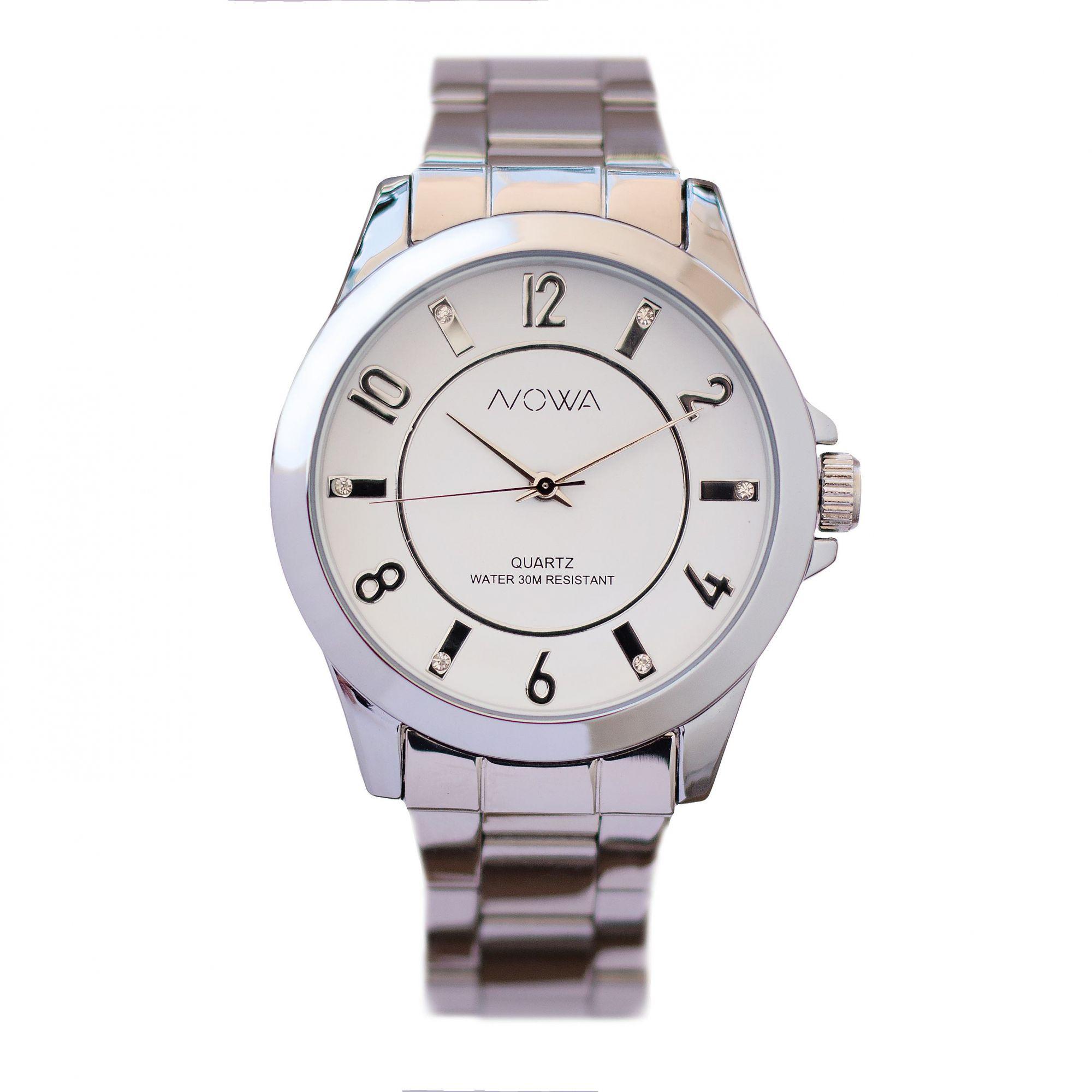 Relógio Nowa Feminino Prata NW2019K