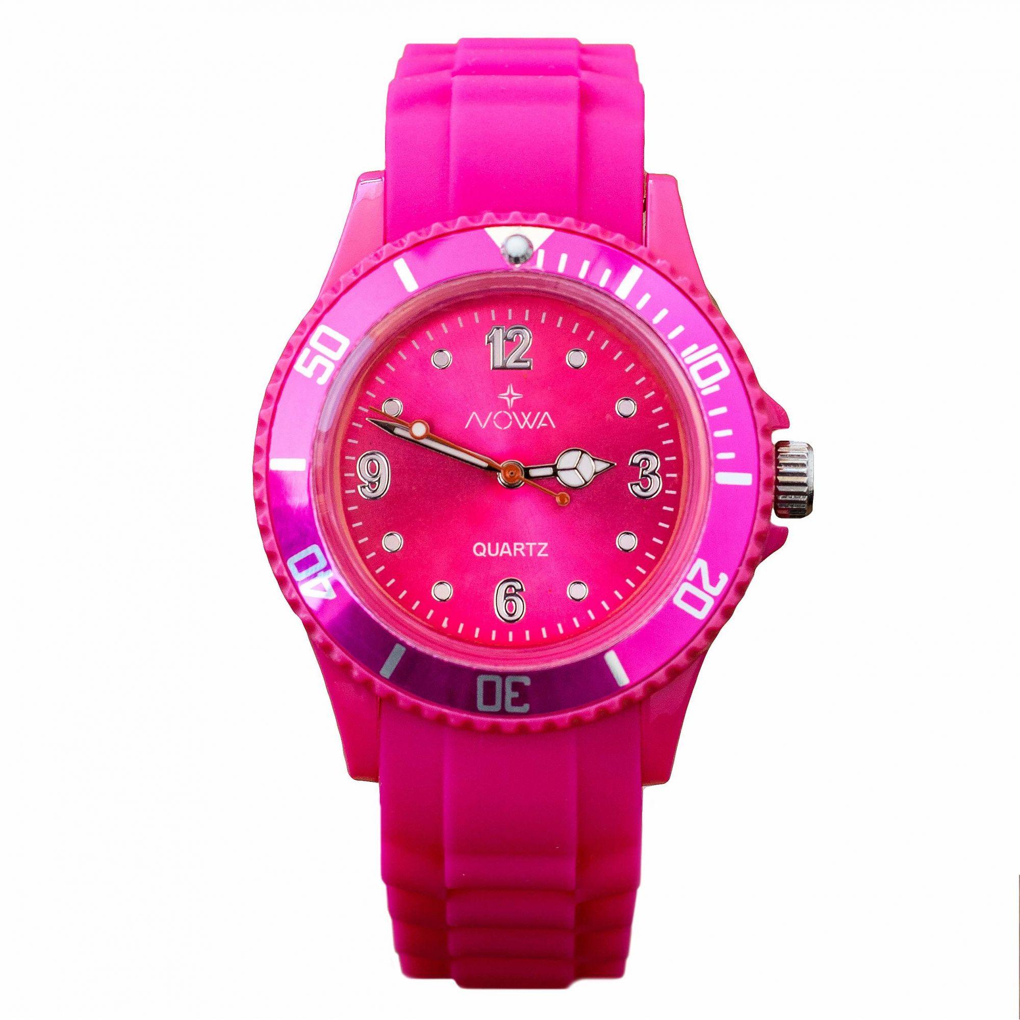 Relógio Nowa Feminino Rosa NW0523RK Borracha