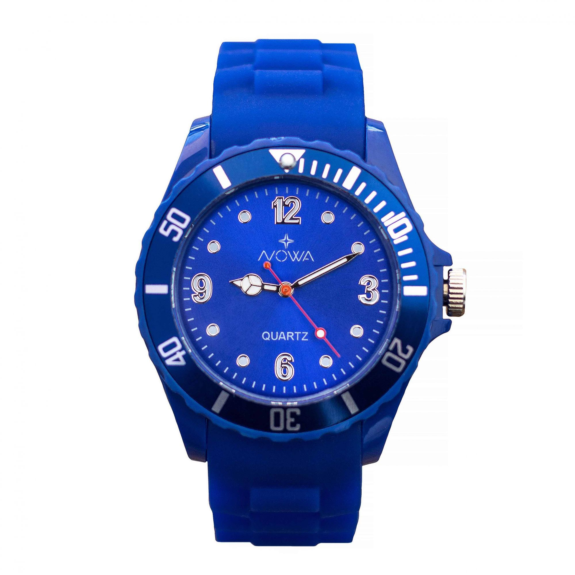 Relógio Nowa Masculino Azul NW0522AK Borracha