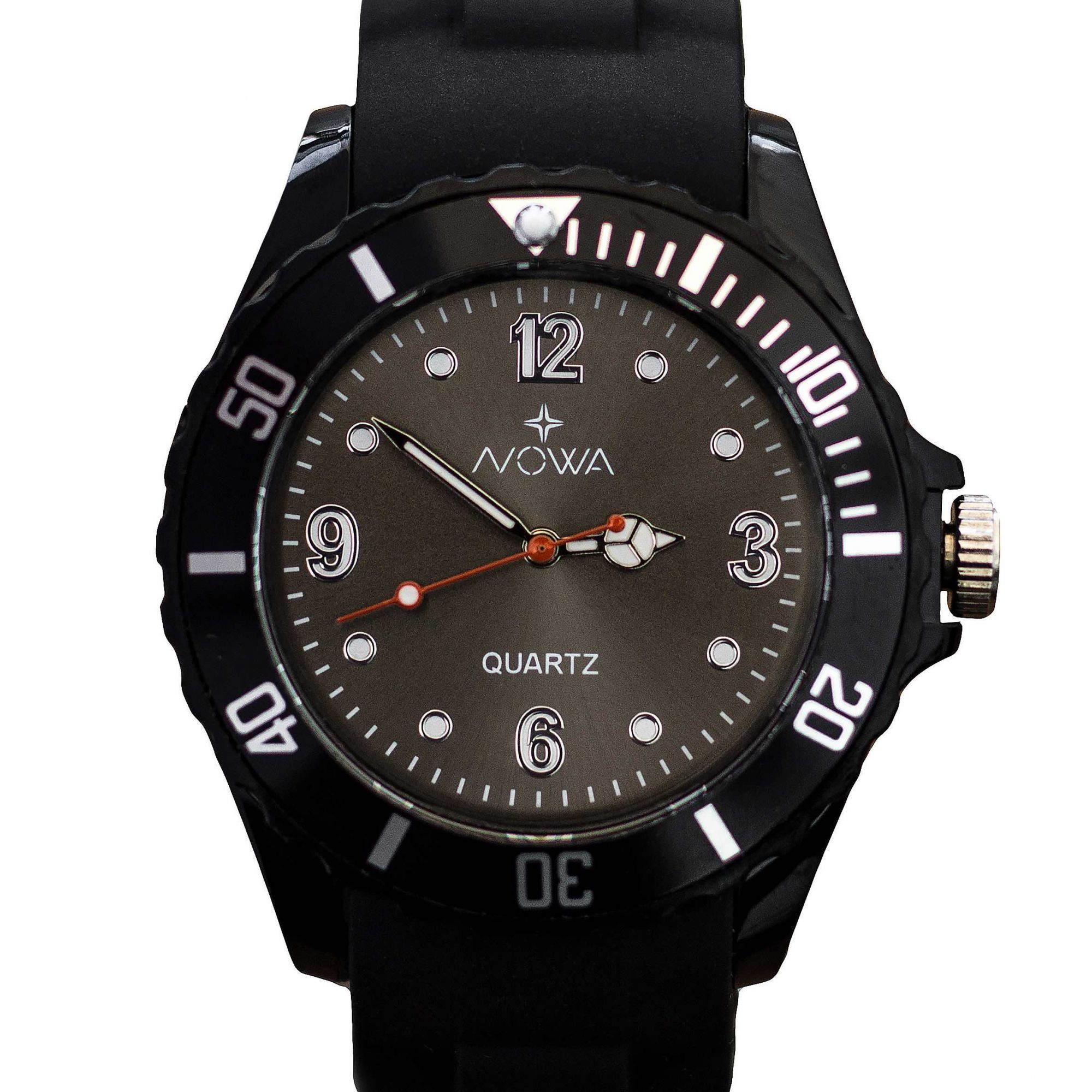 Relógio Nowa Masculino Preto NW0521PK Borracha