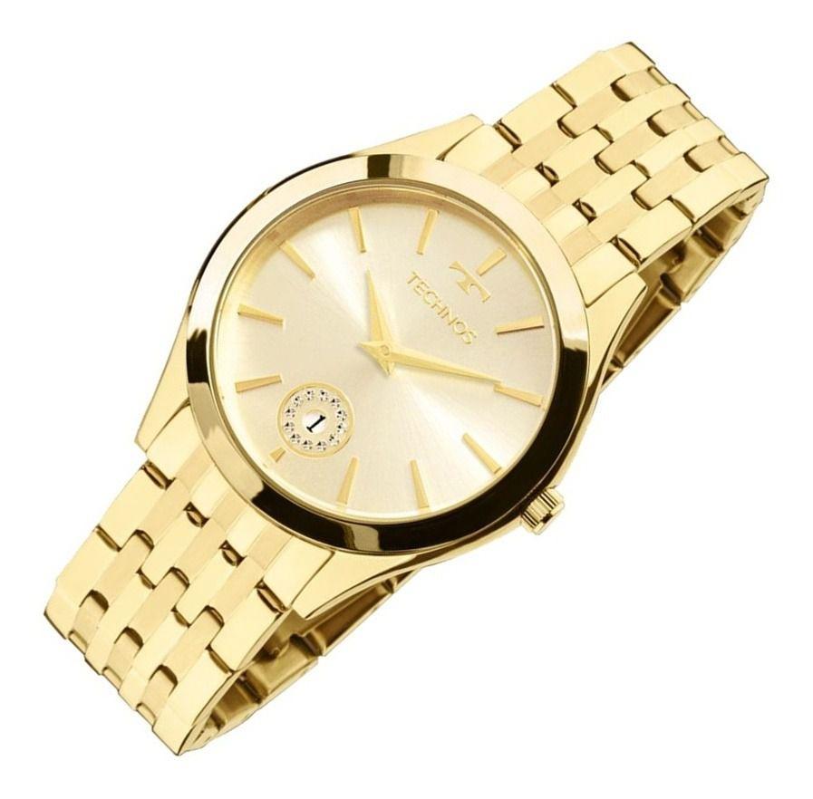 Relógio Technos Dourado Feminino 1M15AQ4X